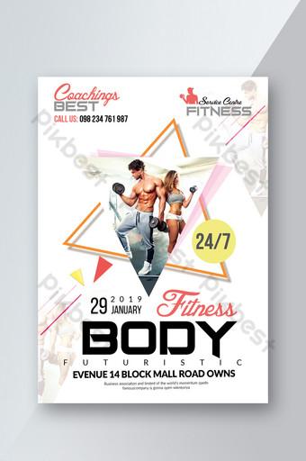 modelo de folheto de fitness Modelo PSD