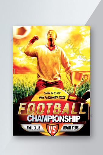 modelo de folheto de jogo de futebol Modelo PSD