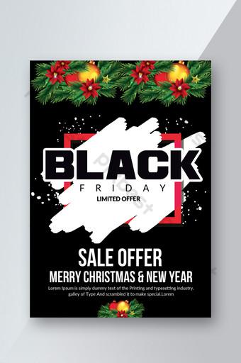 Flyer de l'offre de vente du Black Friday Modèle PSD