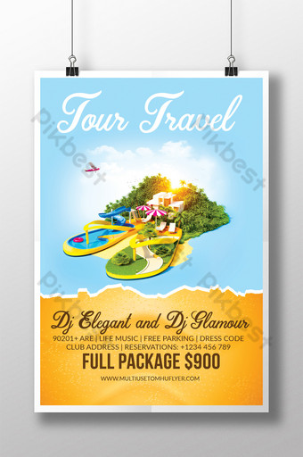 Tour Agency Poster Template PSD