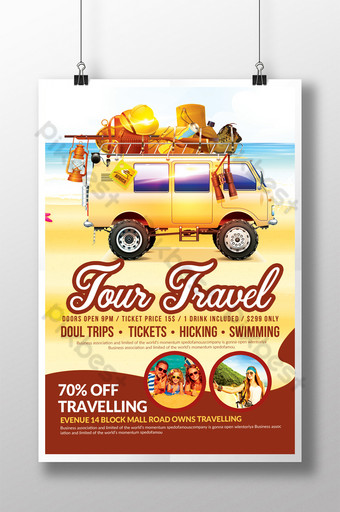 Tour Travel Company Poster Template PSD