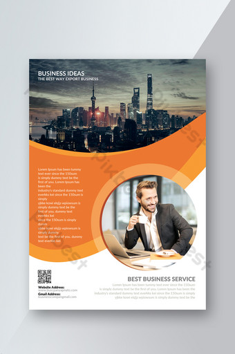 Investment Services Flyer Template PSD