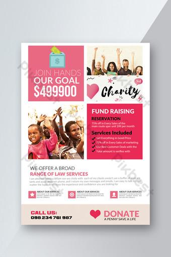 Flyers de charité de don Modèle PSD