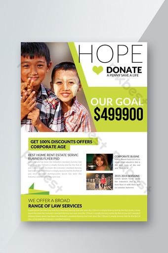 Dépliant de charité et de don Modèle PSD
