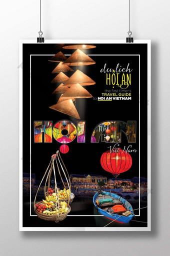 hoi sebuah poster panduan perjalanan vietnam Templat PSD