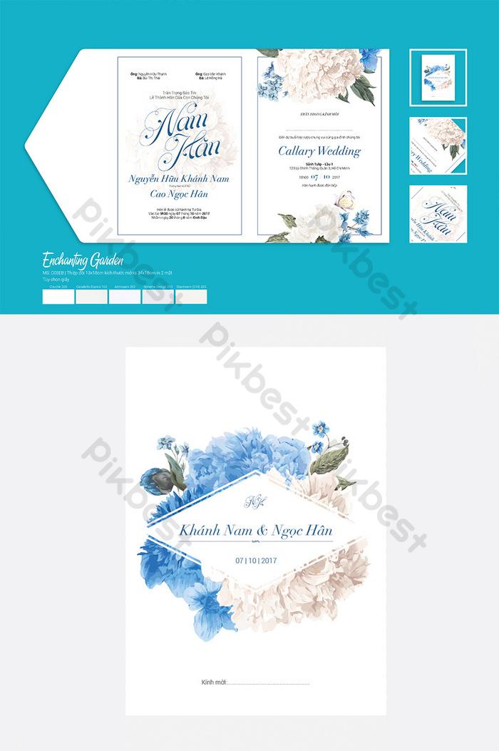 druckbare hochzeitseinladung der blauen blume
