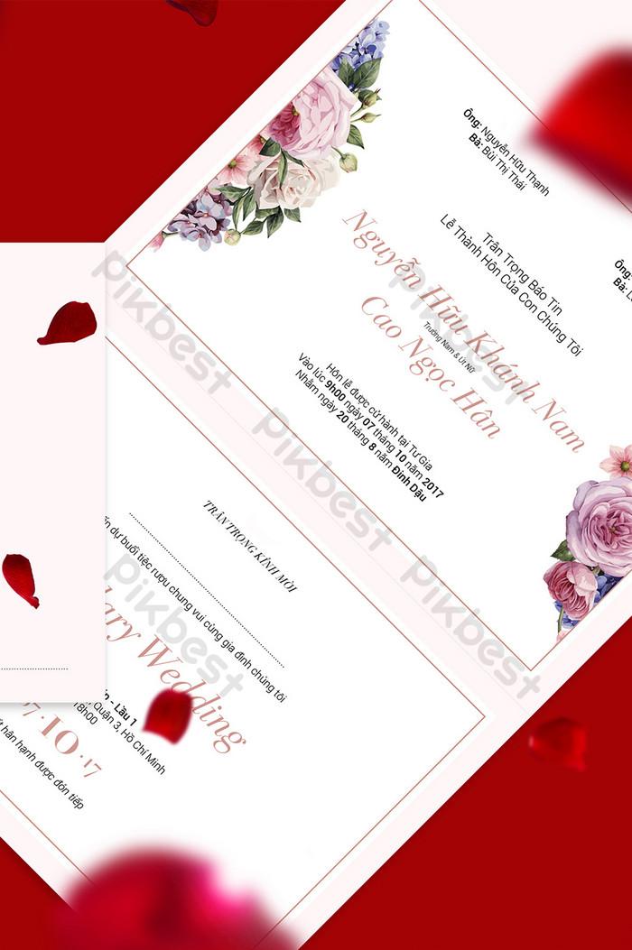 romantyczne zaproszenie ślubne rose