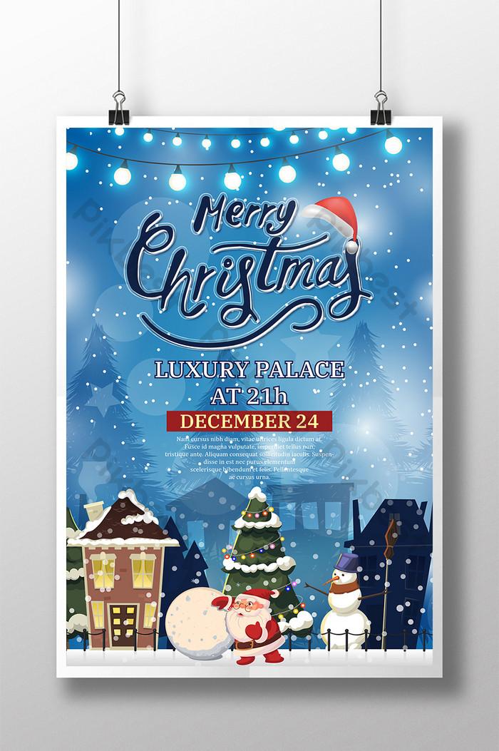 poster salji selamat hari krismas santa claus
