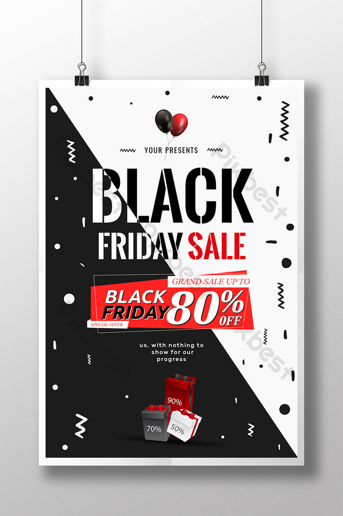 poster jualan super black cyber ​​monday