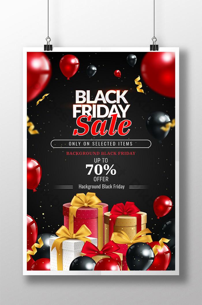 poster hitam jumaat merah dan hitam