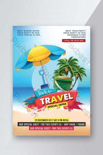 Modèle d'Affiche de Flyer de plage de voyage en Thaïlande Modèle PSD