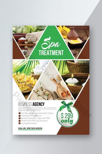 Modèles de flyers frais et généreux pour les soins de spa Modèle PSD