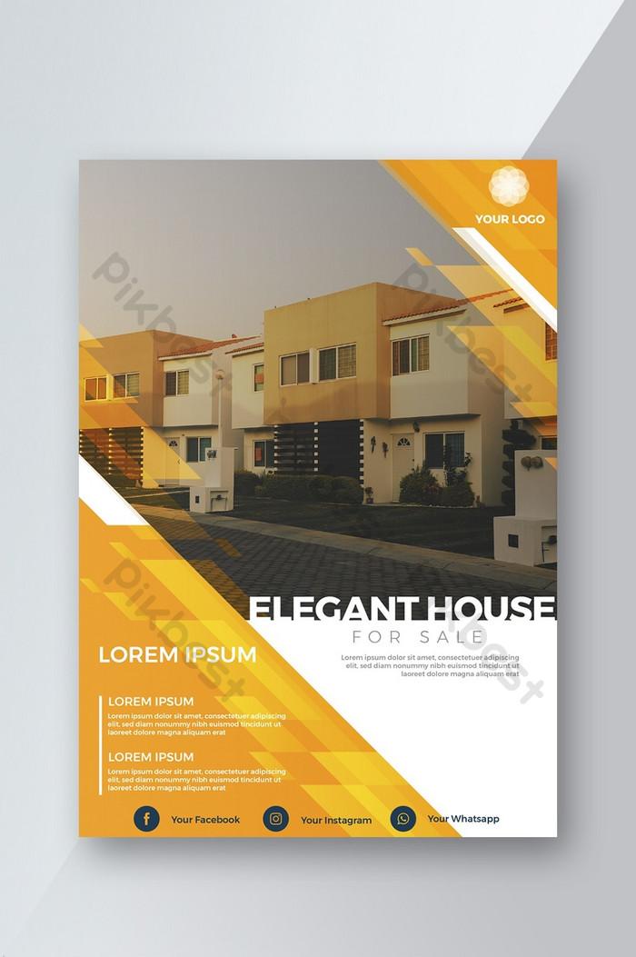 Современная желтая лаконичная брошюра по недвижимости