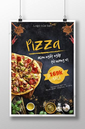 delicioso cartel de pizza de salchicha italiana Modelo AI