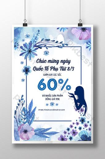 poster quảng cáo ngày quốc tế phụ nữ 83 Bản mẫu AI