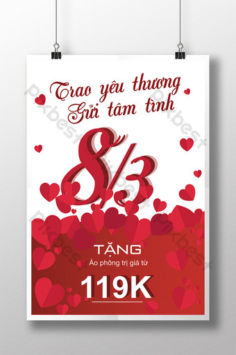 International poster women 83 give love to send sentiment Template AI