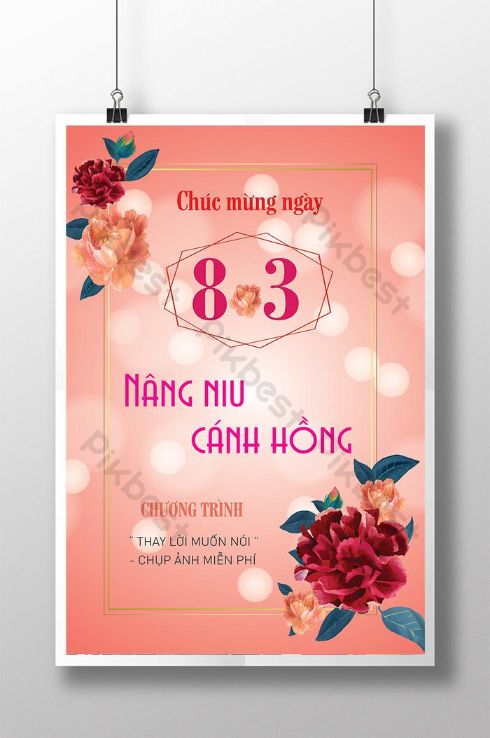 chúc mừng ngày quốc tế phụ nữ 83 nâng cánh hồng