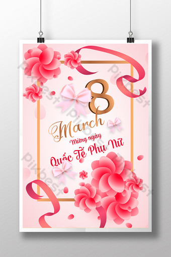 Posters celebrating the International Women's Day 83 sending love to give happiness Template AI