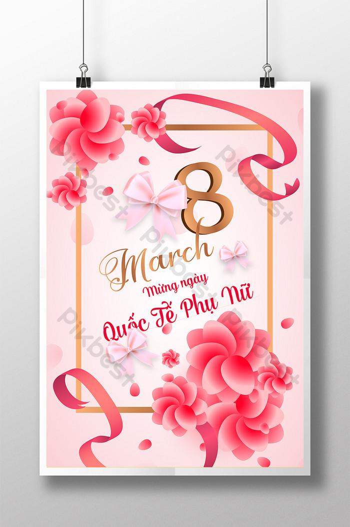 poster kỷ niệm 83 ngày quốc tế phụ nữ gửi yêu thương trao hạnh phúc
