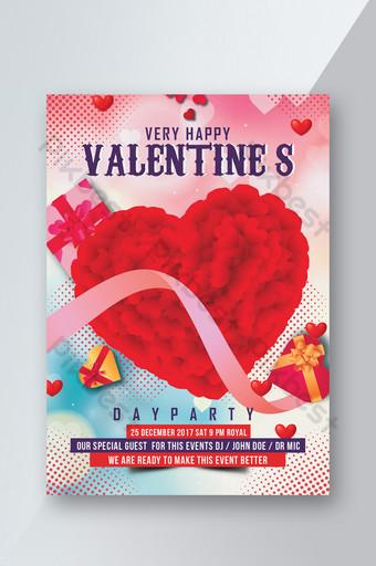 Modèles de flyers psd pour la Saint-Valentin Modèle PSD