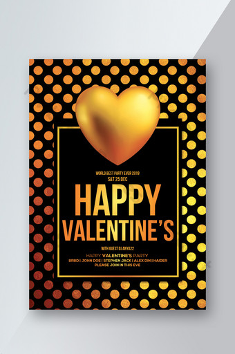 Modèles de flyers Happy Valentines Day Modèle PSD
