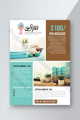 Modèles de flyers de clinique de beauté de traitement SPA Modèle PSD