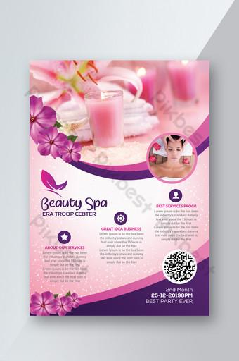 Modèles de flyers de spa de salon de beauté Modèle PSD