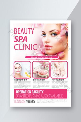 modelo de folheto de beleza spa com cor rosa exuberante Modelo PSD