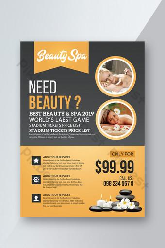 Modèles de flyers de dégradé de bien-être spa Modèle PSD