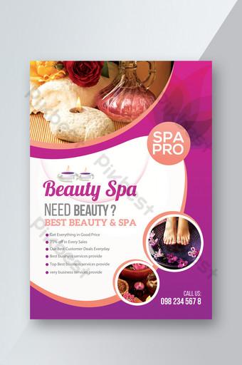 Modèles de flyers pour club de spa pour femmes Modèle PSD