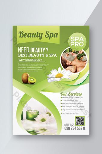 Modèle de Flyer de promotion du centre de spa pour femmes Modèle PSD