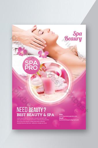 Modèle de Flyer de beauté de salon de spa Modèle PSD