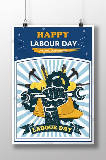 poster chúc mừngày quốc tế lao động hạnh phúc Bản mẫu AI