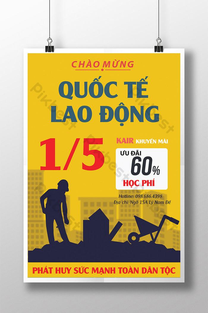 poster quảng cáo kỷ niệm ngày quốc tế lao động