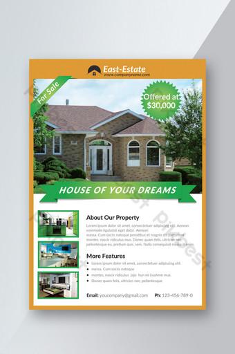 Modèle de Flyer d'achat et de vente de propriétés commerciales et commerciales Modèle PSD