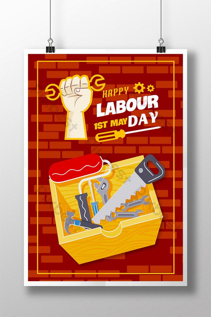 des affiches pour célébrer la journée internationale du travail détermination à travailler dur