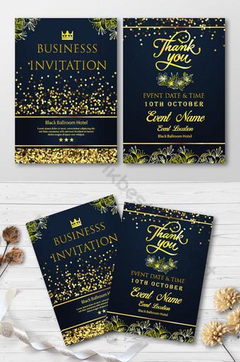 Carte d'invitation d'affaires de style de luxe Modèle AI