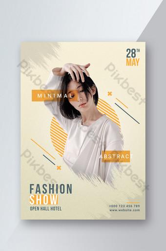 Ipakita ang fashion template ng poster na abstract na disenyo Template PSD