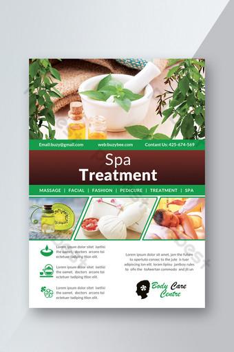 Modèle de Flyer de thérapie et de traitement de spa Modèle PSD