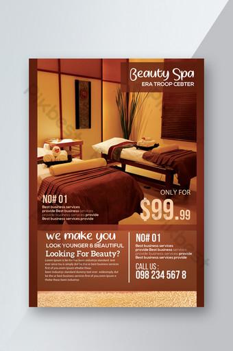 Modèle de Flyer de remise de club de spa de style réalité Modèle PSD