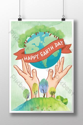 세계 지구의 날을위한 크리에이티브 포스터 템플릿 PSD