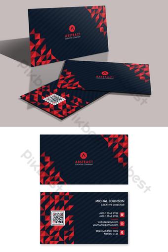 plantilla de tarjeta de visita profesional creativa Modelo AI