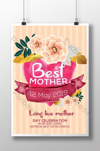 Flourish Live Long Modèles de flyers pour la fête des mères Modèle PSD