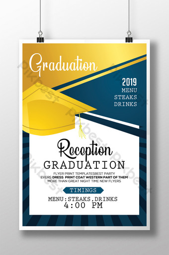 Modèle de Flyer de graduation heureux de style occidental Modèle PSD