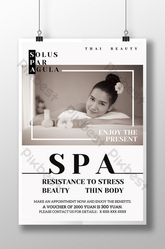 Thai Beauty Portrait SPA Fashion Design Sense Poster Template PSD