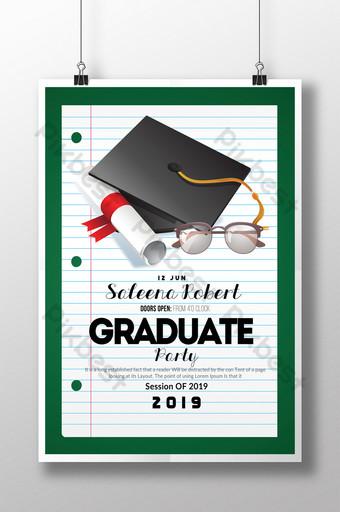 Modèles de prospectus de graduation dans un style simple avec diplôme Modèle PSD