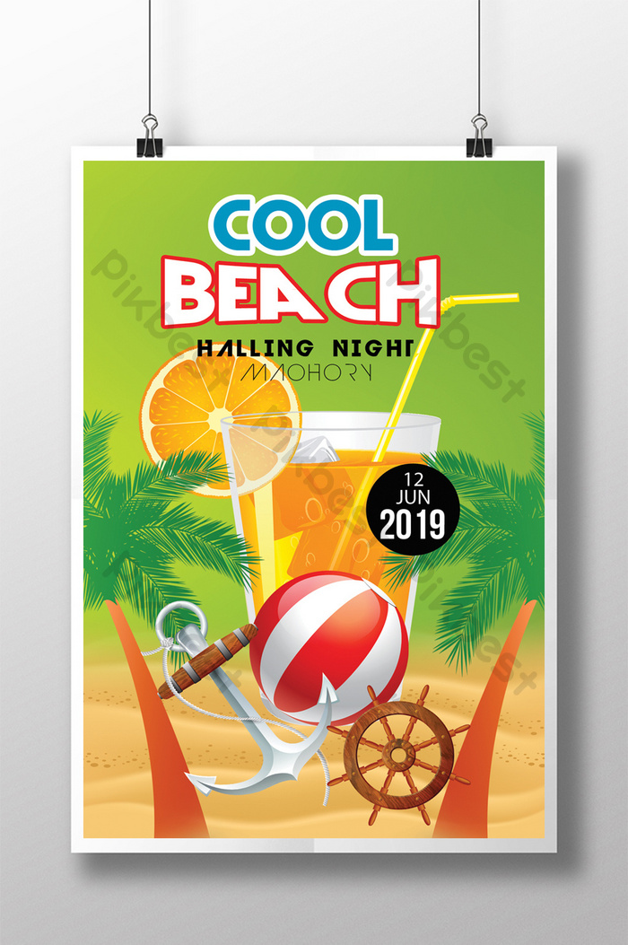 Summer Cool Beach Picnic In Tropical Style Flyer Templates Psd Free Download Pikbest