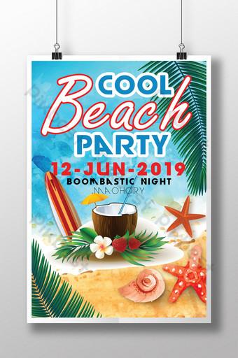Modèles de flyers de fête à la plage Modèle PSD
