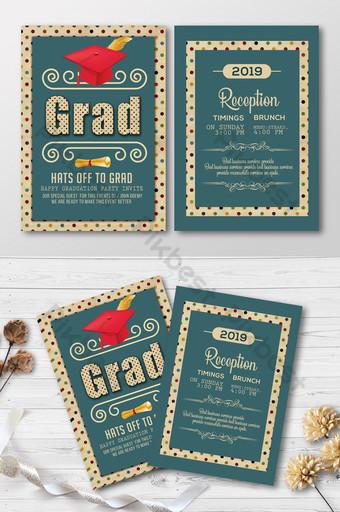 Modèle de Flyer de graduation de style simple et rétro Modèle PSD