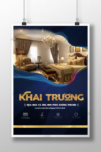 Poster quảng cáo bất động sản cao cấp vinh quang khai trương bất động sản Bản mẫu PSD